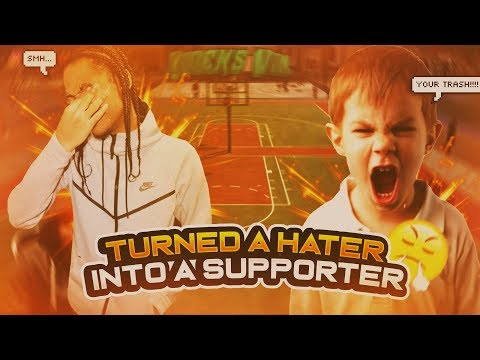 I had to 1v1 a LOCKDOWN to turn a hater to a supporter! With a 96 Pure shot creator!!