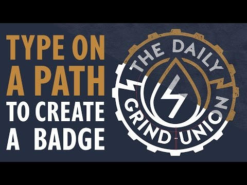 How To Use Type On A Path To Create A Badge In Illustrator