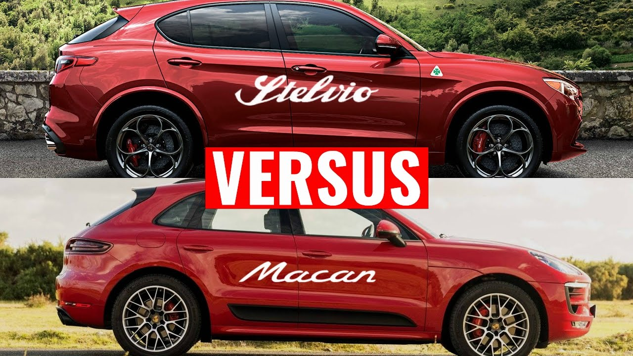 alfa romeo stelvio quadrifoglio vs porsche macan gts doovi. Black Bedroom Furniture Sets. Home Design Ideas