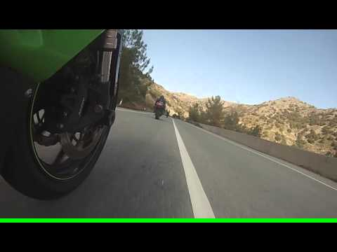 Fast Ride with Supersport Bikes on Mountain Twisty Road