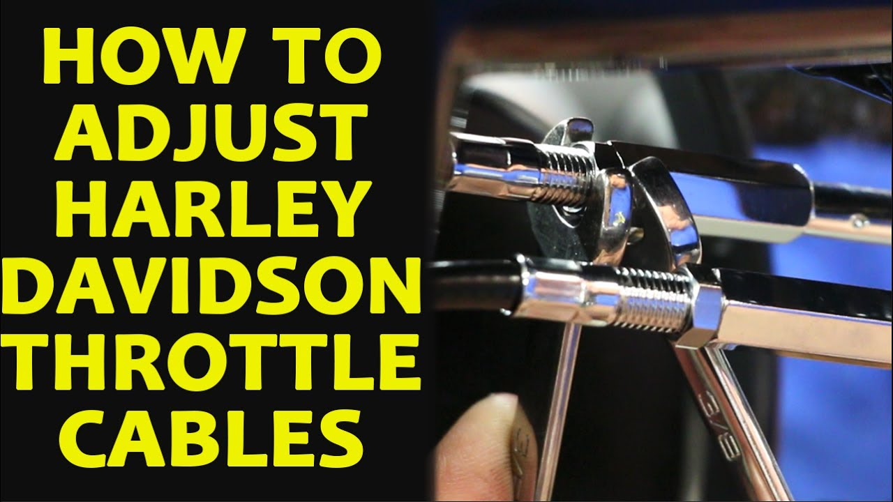 How To Adjust Harley Davidson Throttle Cables Youtube Wiring Diagram 1980 Fxr Shovelhead