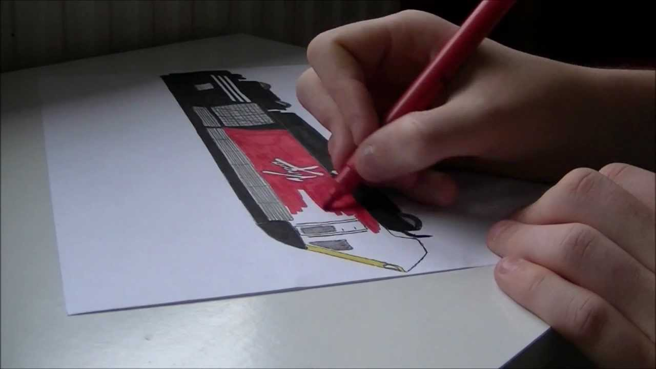 Drawing A Virgin Trains HST Power Car YouTube