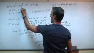 Factorizacion de polinomios 03 BACHILLERATO ruffini raices complejas