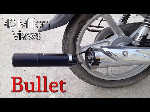 How To Make Bullet Exhaust Sound Silencer For Any Bike