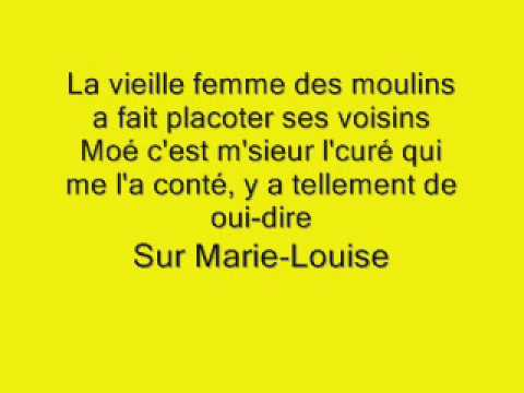 Marie-Louise Zébulon avec paroles