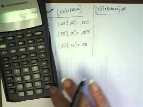 Expected Return and Risk  Example 8 3