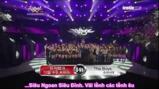 [ANTI AFS] SNSD lại chiến thắng trước Wonder Girls - Music Bank 111125 [VIETSUB]