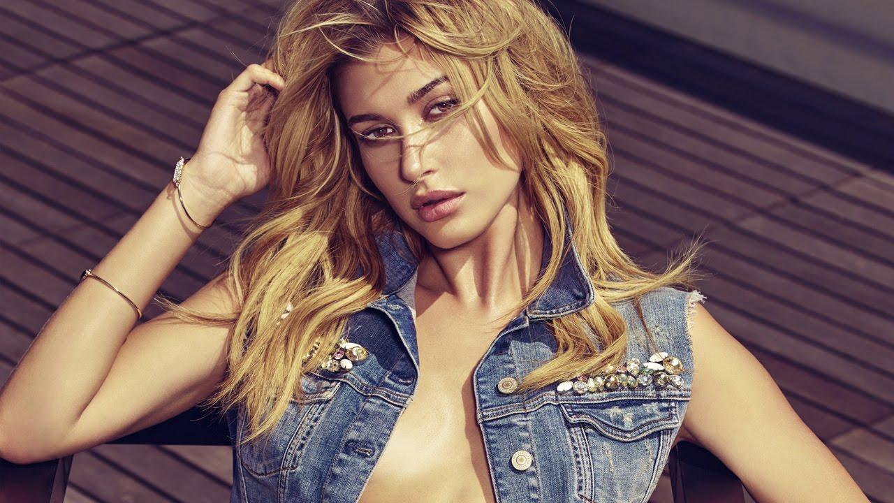 best website a7bd9 d3fe7 Behind the Scenes: GUESS Jeans Spring 2017 Campaign feat. Hailey Baldwin