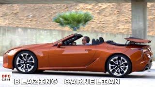 2021 Lexus LC500 Convertible In Blazing Carnelian
