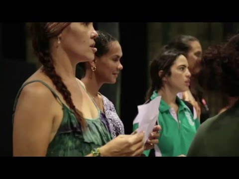 Birrimbi Dulgu Bajal Fashion Performance as part of Virgin Australia Melbourne Fashion Festival 2016