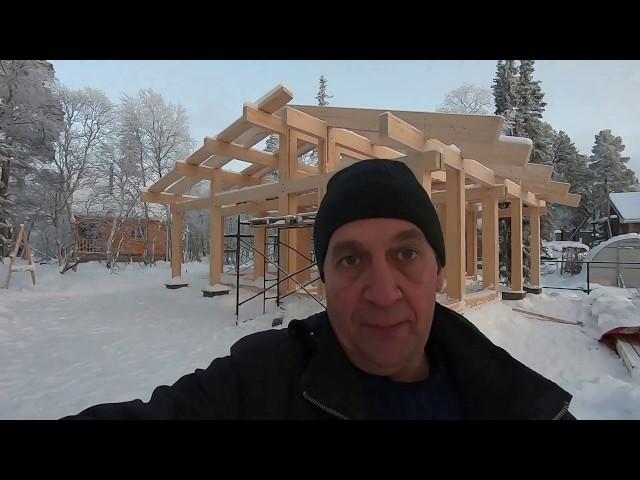 Мурманск, снятие размеров стеклопакетов в Фахверковом доме.  Выпуск # 48
