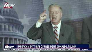 OH MY! Lindsey Graham GOES OFF On Democrats and Media Over Impeachment Trial
