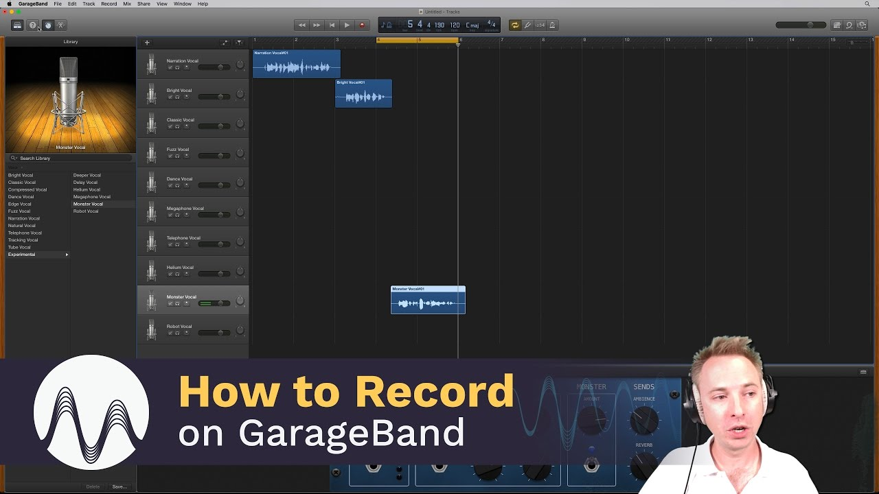 how to record your voice in garageband