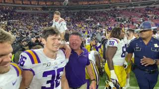 Follow Ed Orgeron through emotional celebration, alma mater after LSU beat Alabama