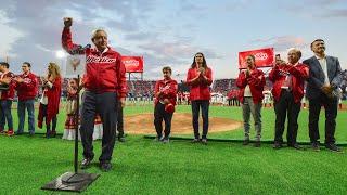 Inauguración del estadio de béisbol 'A...