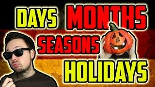 Days, Months, Seasons and Holidays | Learn German for Beginners | Lesson 6