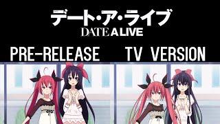 Whereabouts of Tohka's Left Arm - Date A Live 3 Pre-Release/TV Ver. Comparison