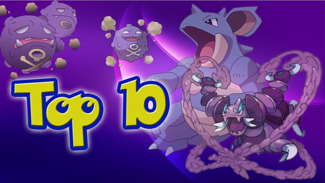 Top de los pokemon tipo veneno mas fuertes - YouTube