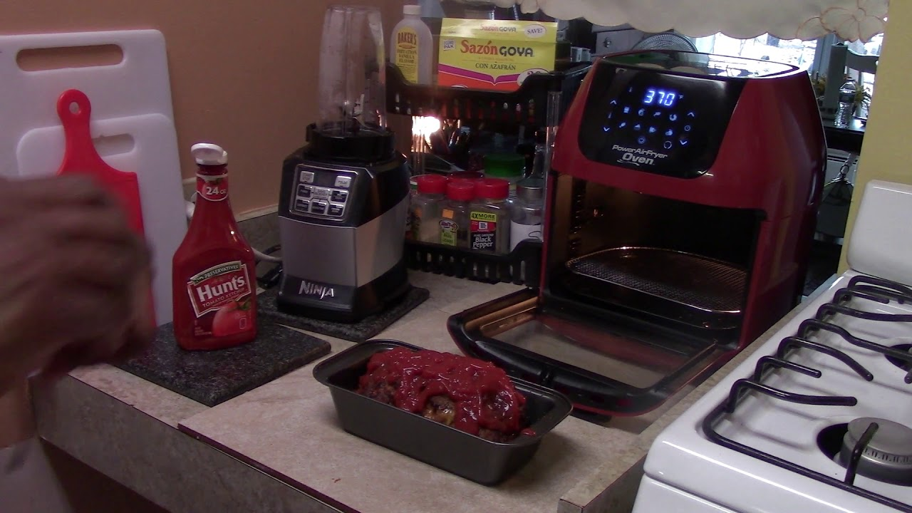 Baked Turkey Meatloaf Power Air Fryer Oven Youtube