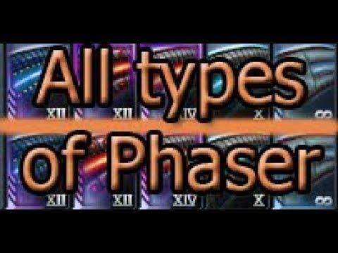 Star Trek Online All Types Of Phaser Youtube