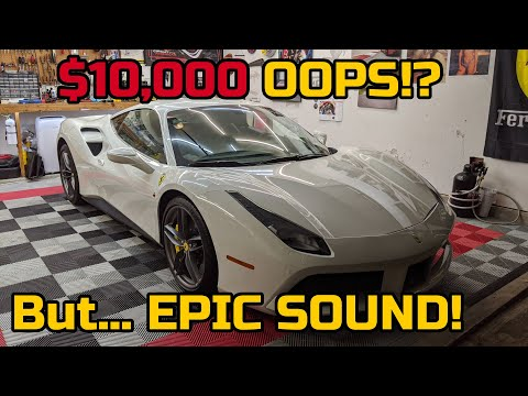 DIY Installing Novitec Exhaust on a Ferrari 488 ALMOST ENDS IN DISASTER!