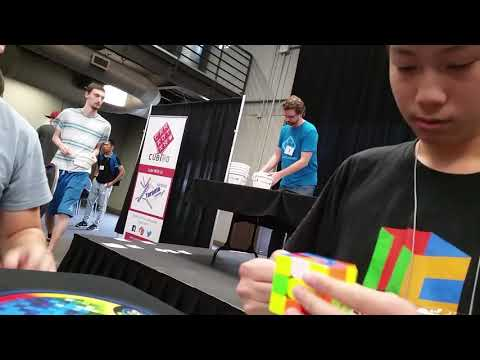 Battle of Waterloo 2017 15.01 Official Rubik's Cube Average (first two solves)