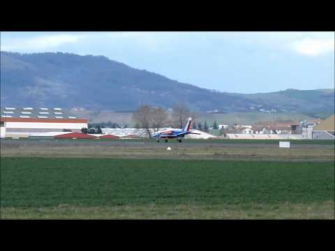 Alphajet Patrouille de France French airforce take off Clermont Ferrand Auvergne airport