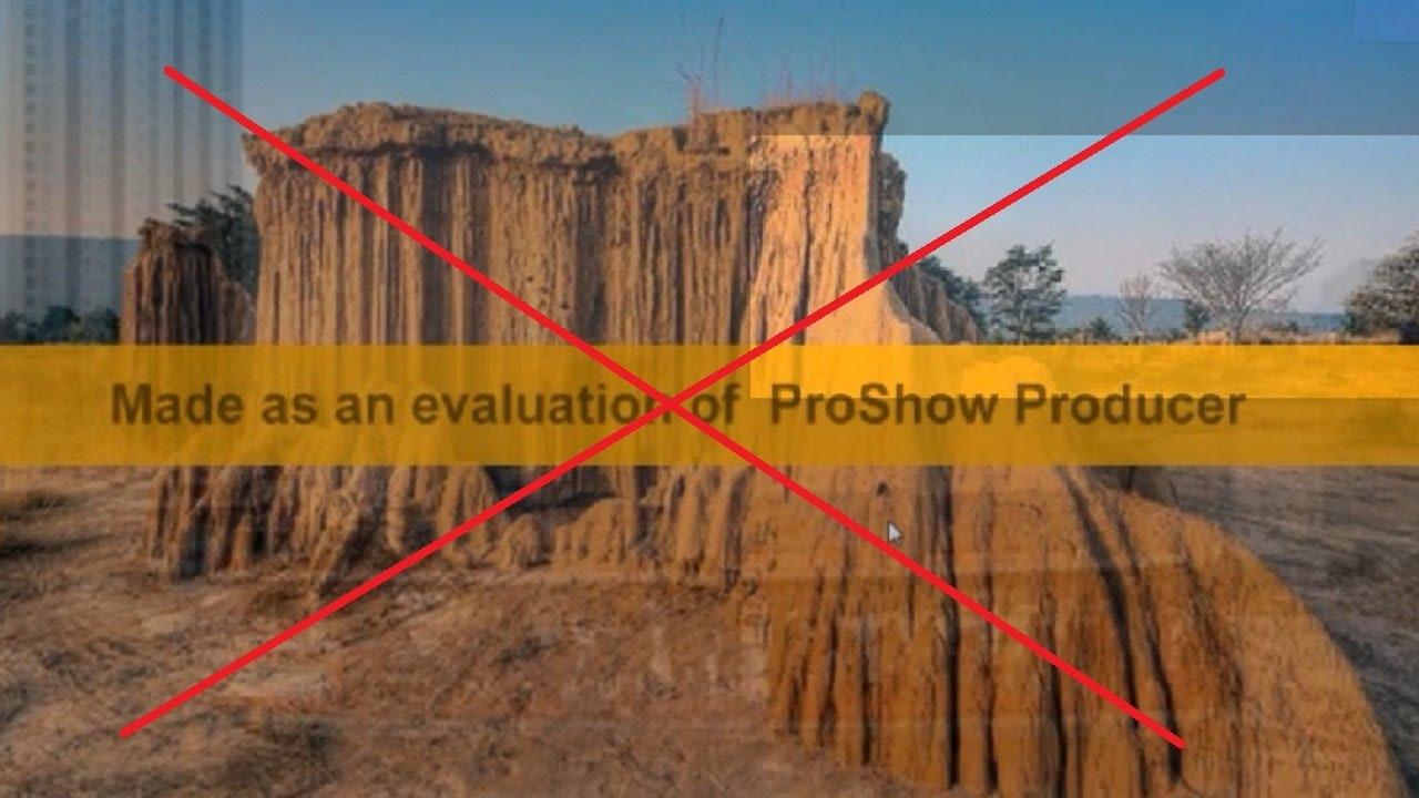 Cách xóa bỏ dòng chữ màu vàng trong Proshow producer 7.0