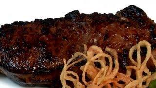 Bourbon-marinated Steak : Entree Recipes