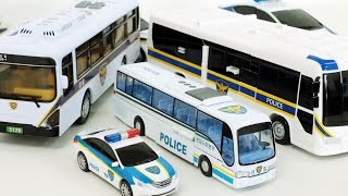 Police Bus Cars Transformation Car Toys 경찰 버스 헬로카봇 k-캅스 경찰차 장난감 변신 동영상