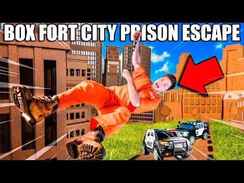 BOX FORT PRISON ESCAPE! Escaping BOX FORT CITY Challenge