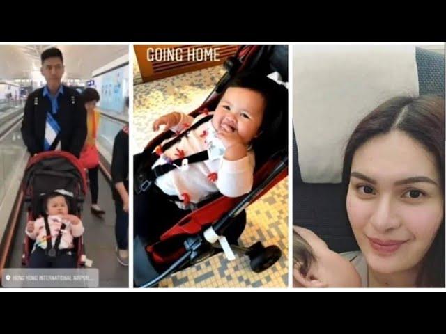 Vic Sotto, Pauleen & Tali's moments at Hong Kong airport before going back to PH