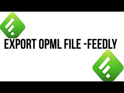 How to export opml file from feedly