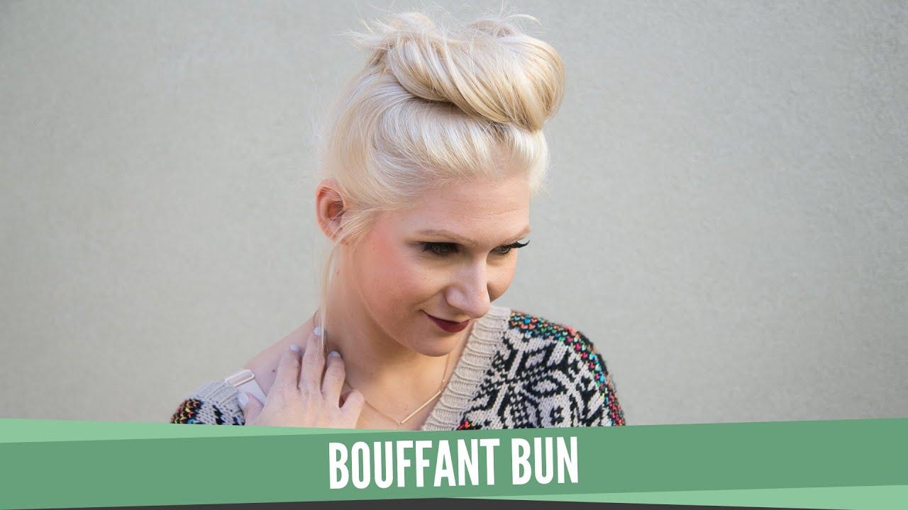 Top Bouffant Bun - YouTube