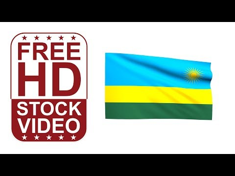 FREE HD video backgrounds – Rwanda flag waving on white background 3D animation