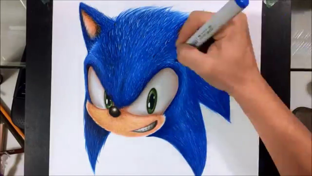 Drawing Realistic Sonic Youtube