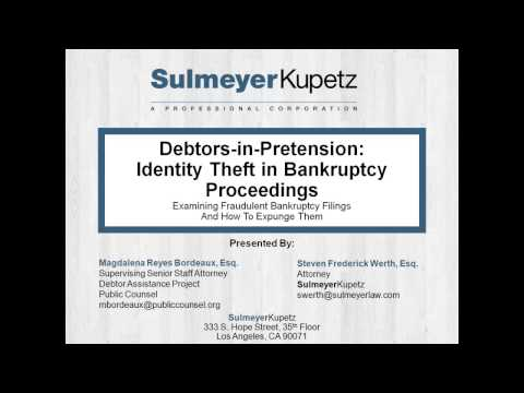Debtors-in-Pretension: Identity Theft in Bankruptcy Proceedings