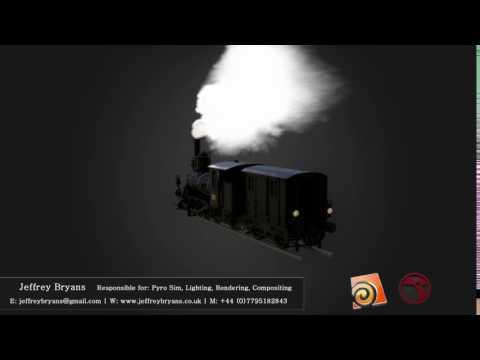 Train smoke simulation