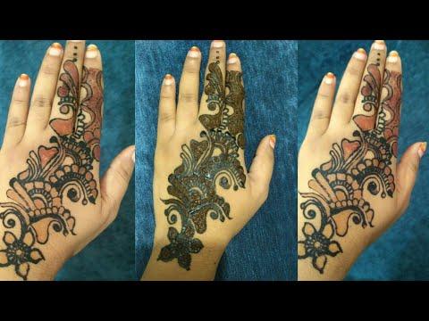Black Henna Red Shaded Mehndi Design For Diwali Best Arabic Henna
