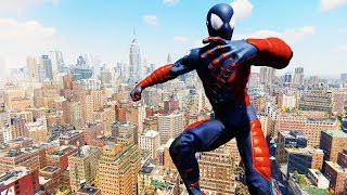 Spider-Man PS4 - Captain Spider-Man Electro Suit Combat & Free Roam Gameplay