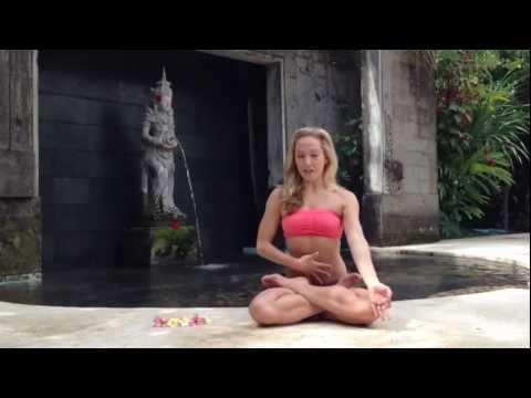 Yoga Lotus Posture, Padmasana with Kino in Bali