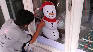 Cách Dán Decal Trang Trí Noel | Lala Shop