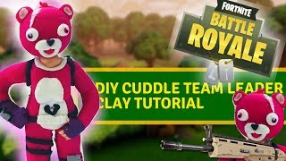 "DIY Cuddle team leader skin from ""Fortnite"" - clay tutorial"