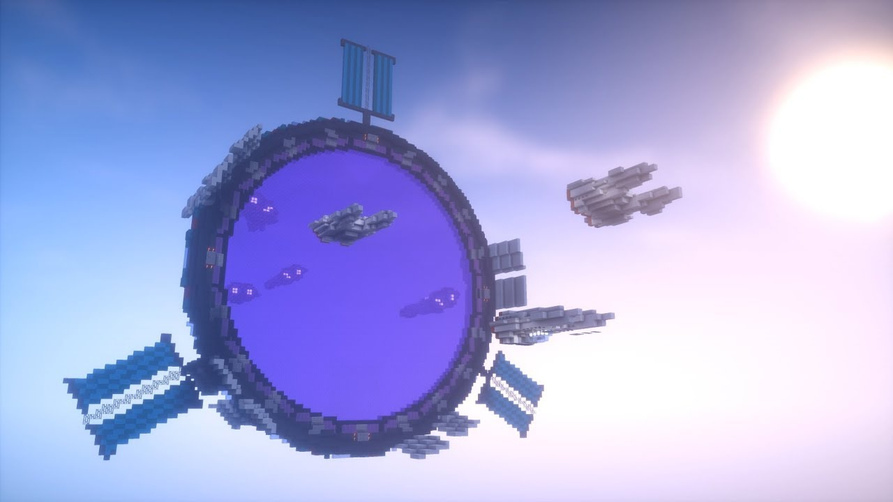 Minecraft Timelapse Space Nether Portal Youtube