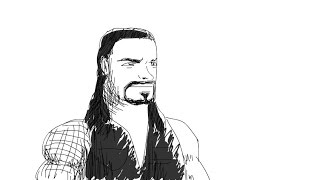 How to Draw Roman Reigns WWE (Simple Cartoon Style)
