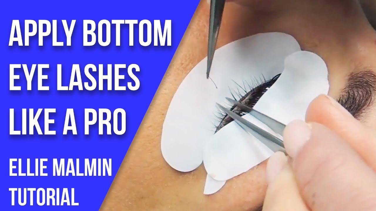 Bottom Eyelash Extensions Youtube