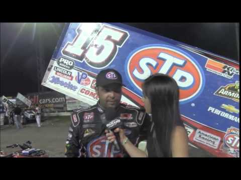 World of Outlaws STP Sprint Car Series Victory Lane from River Cities Speedway