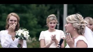Невеста читает реп на свадьбе (Железногорск 2015)