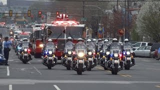 PFD Chief Michael Goodwin Funeral Procession