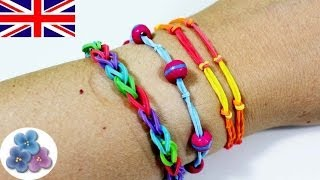 How to make Bracelets with your fingers Rubber Band Bracelet DIY Rainbow Loom Mathie